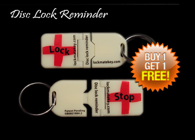 St George Disc Lock Reminder