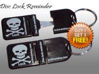 Black Metal Tip Disc Lock Reminder Biker Accessories